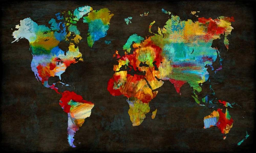 konfigurieren des Kunstdrucks in Wunschgröße Color My World von Brennan, Russell
