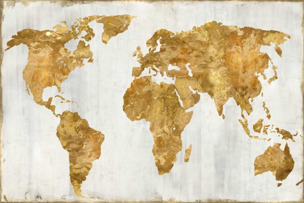 konfigurieren des Kunstdrucks in Wunschgröße The World In Gold von Brennan, Russell