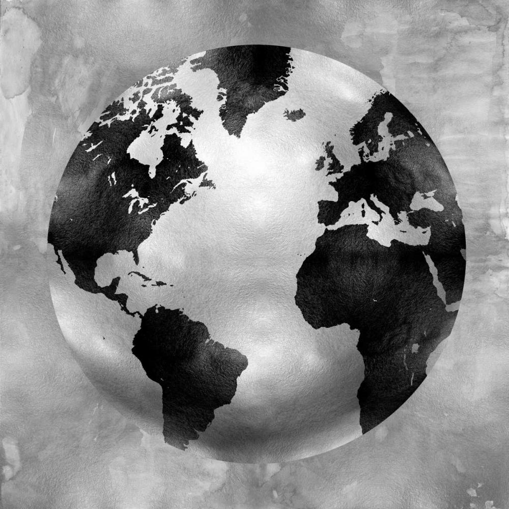 konfigurieren des Kunstdrucks in Wunschgröße Silver Globe von Brennan, Russell