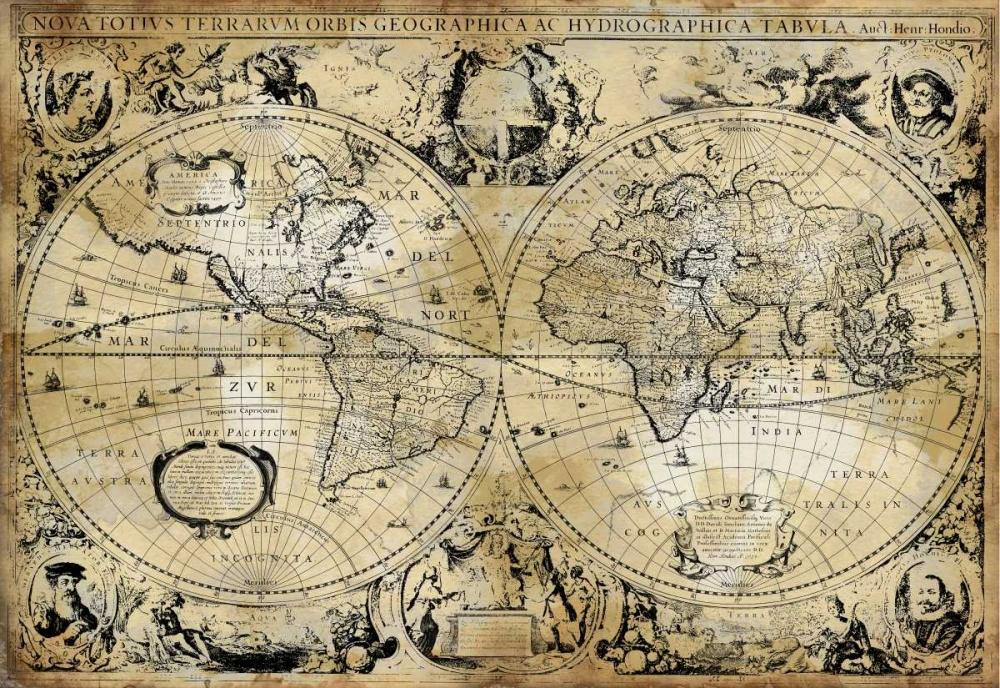 konfigurieren des Kunstdrucks in Wunschgröße Antique Map I von Brennan, Russell