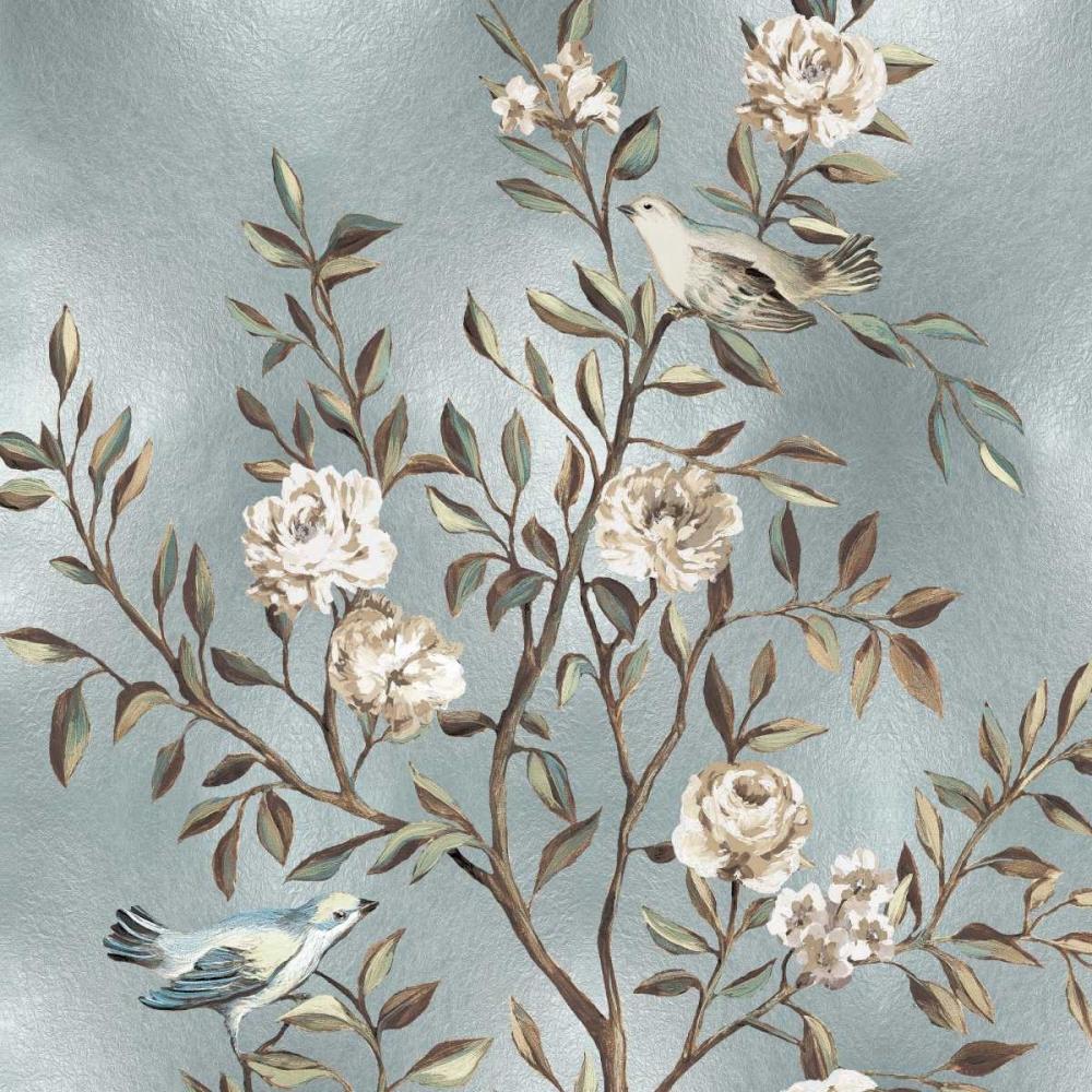 konfigurieren des Kunstdrucks in Wunschgröße Chinoiserie in Silver I von Campbell, Renee