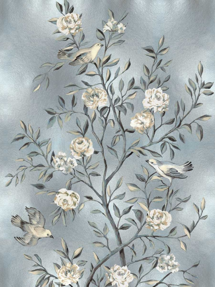 konfigurieren des Kunstdrucks in Wunschgröße Chinoiserie in Silver III von Campbell, Renee