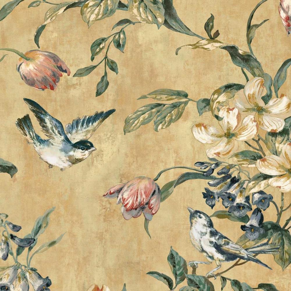 konfigurieren des Kunstdrucks in Wunschgröße Birdland I von Campbell, Renee