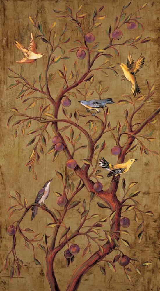 konfigurieren des Kunstdrucks in Wunschgröße Plum Tree Panel I von Jimenez, Rodolfo