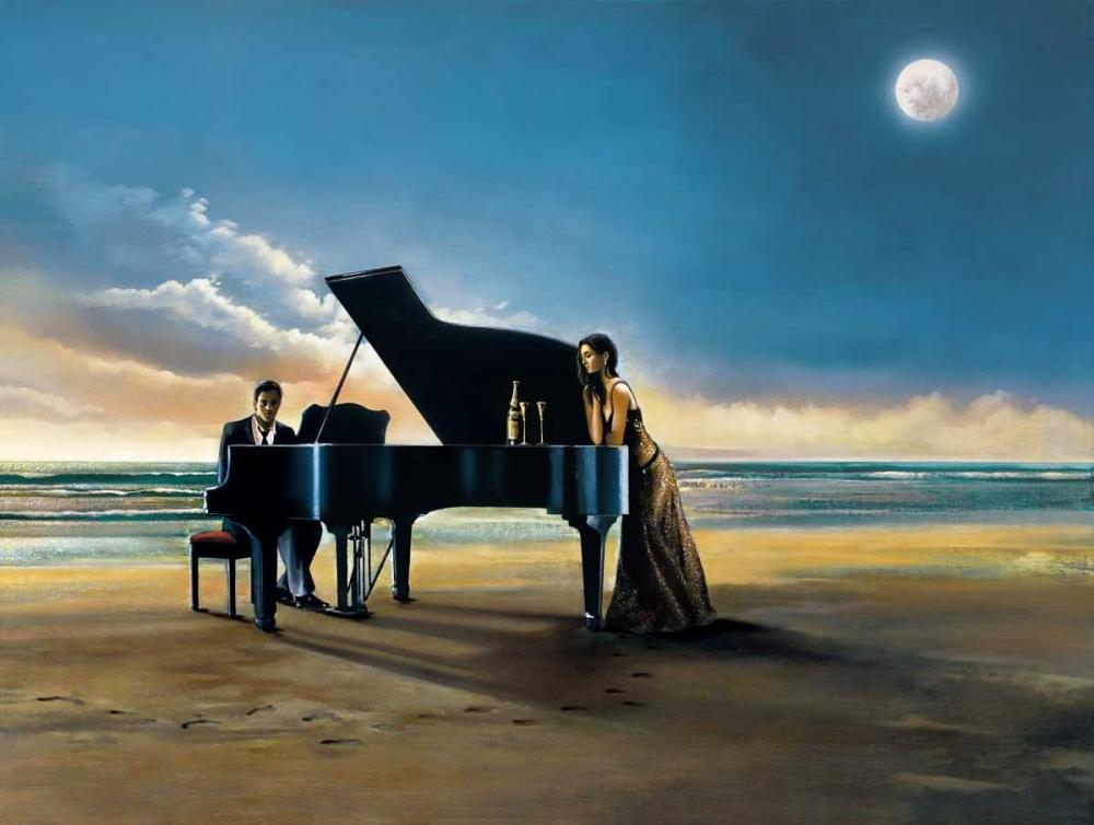 konfigurieren des Kunstdrucks in Wunschgröße Moonlight Serenade von Di Scenza, Ron