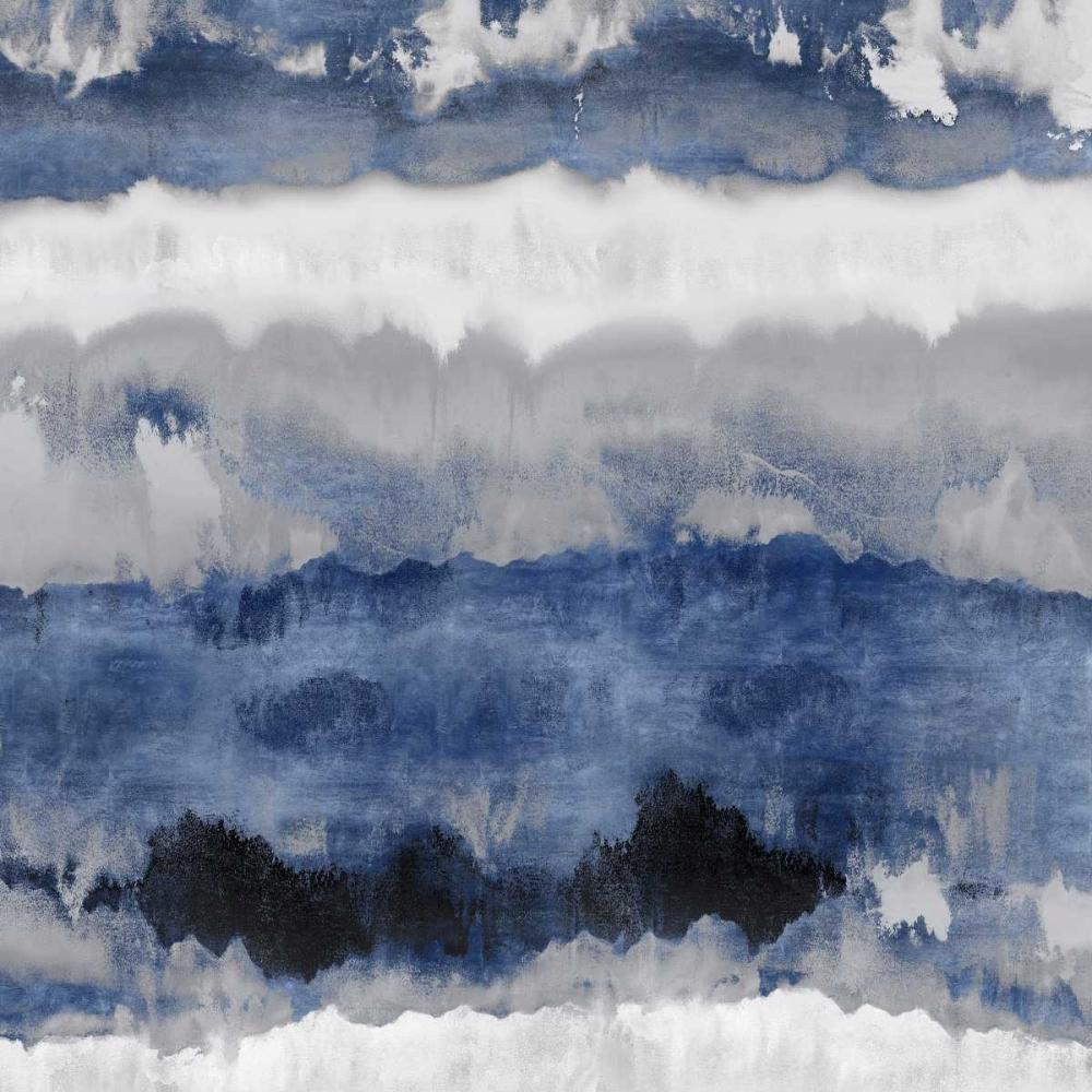 konfigurieren des Kunstdrucks in Wunschgröße Indigo Gradations von Springer, Rachel