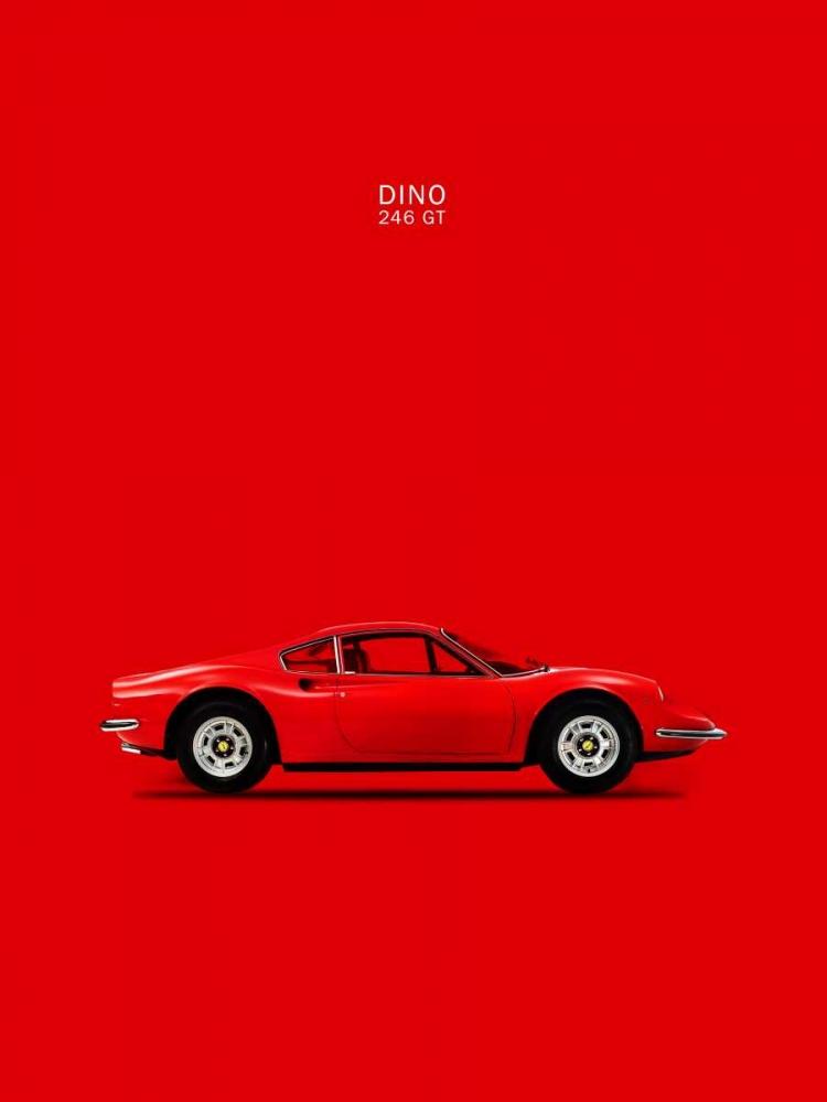 konfigurieren des Kunstdrucks in Wunschgröße Ferrari Dino 246GT 69 Red von Rogan, Mark