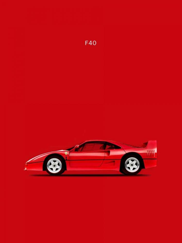 konfigurieren des Kunstdrucks in Wunschgröße Ferrari F40 von Rogan, Mark