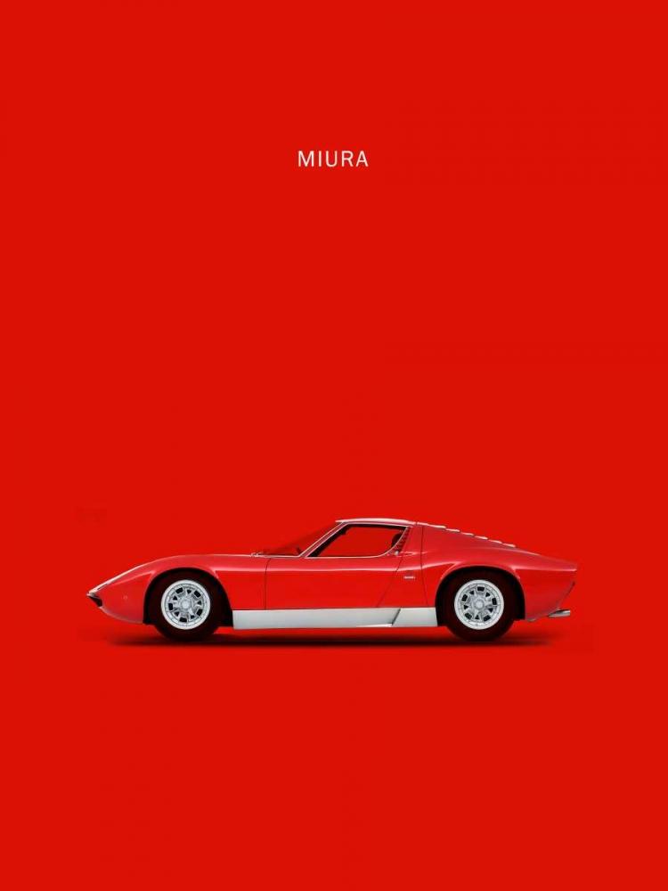 konfigurieren des Kunstdrucks in Wunschgröße Lambo Miura 69 von Rogan, Mark