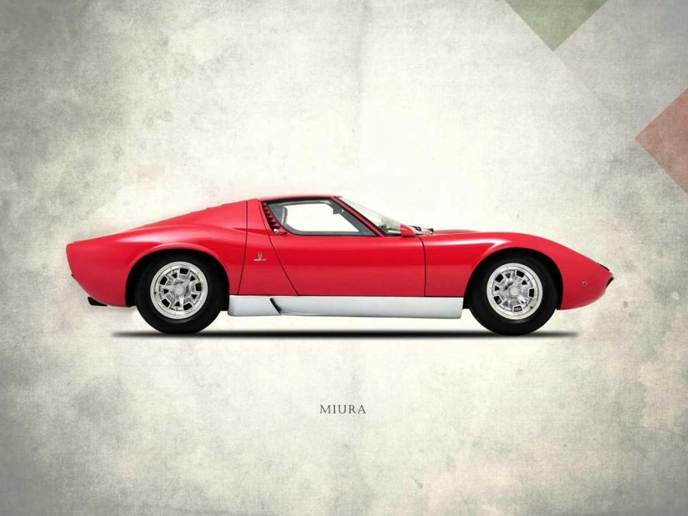 konfigurieren des Kunstdrucks in Wunschgröße Lamborghini Miura P400 1967 von Rogan, Mark