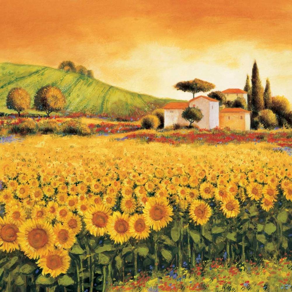konfigurieren des Kunstdrucks in Wunschgröße Valley of Sunflowers von Leblanc, Richard