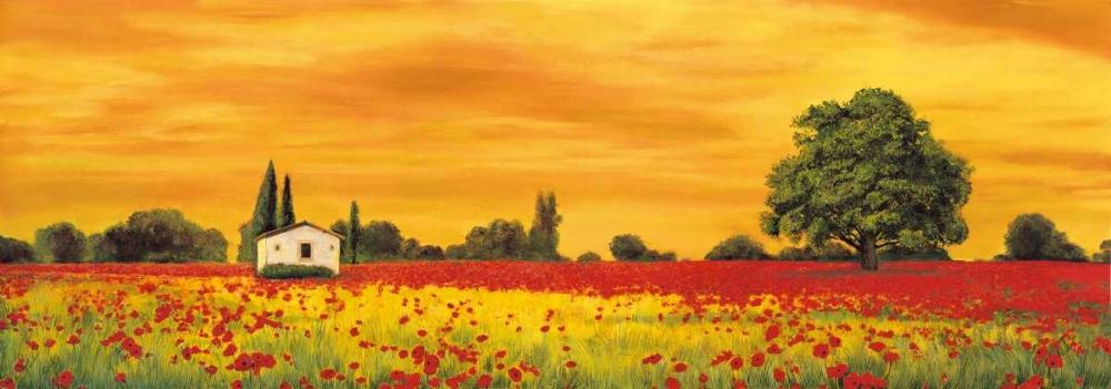 konfigurieren des Kunstdrucks in Wunschgröße Field of Poppies von Leblanc, Richard