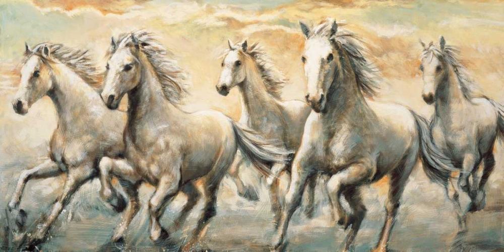 konfigurieren des Kunstdrucks in Wunschgröße Wild Horses von Steele, Ralph