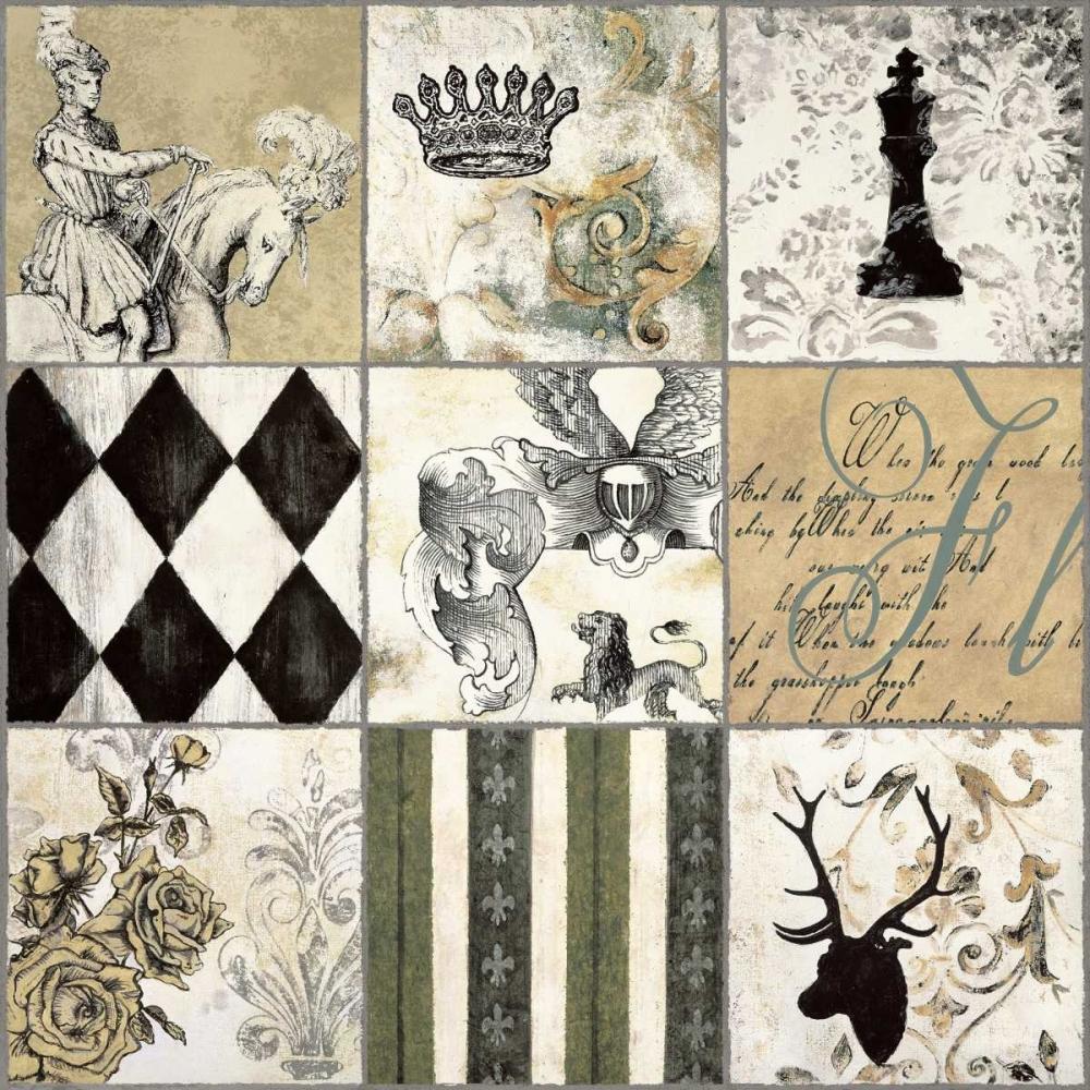konfigurieren des Kunstdrucks in Wunschgröße Baroque I von Bellaunay, Sylvie