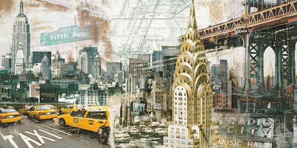 konfigurieren des Kunstdrucks in Wunschgröße New York von Burke, Tyler