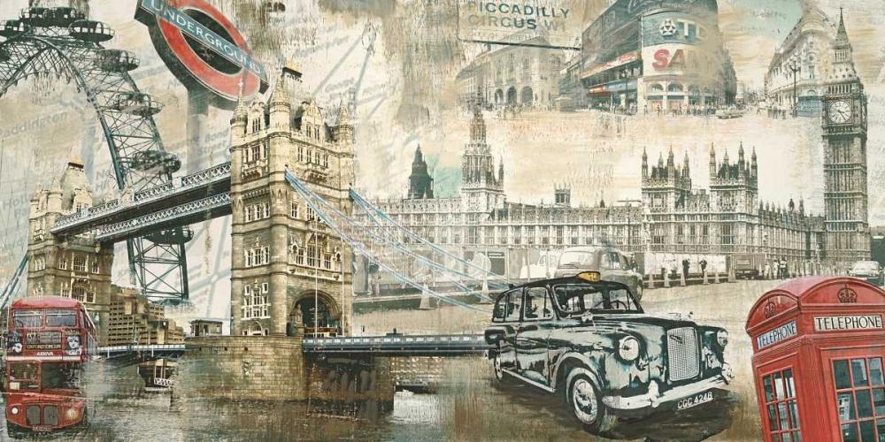 konfigurieren des Kunstdrucks in Wunschgröße London von Burke, Tyler