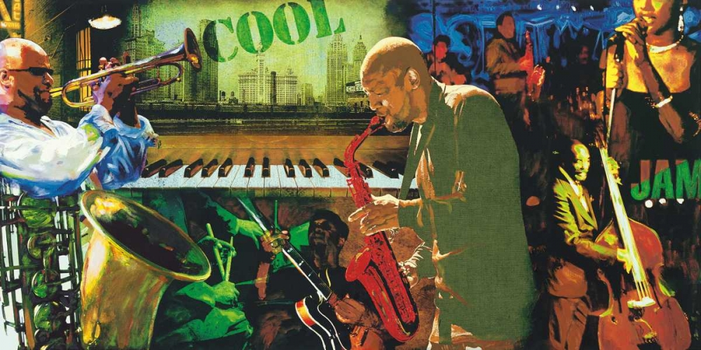 konfigurieren des Kunstdrucks in Wunschgröße Cool Jazz von Burke, Tyler