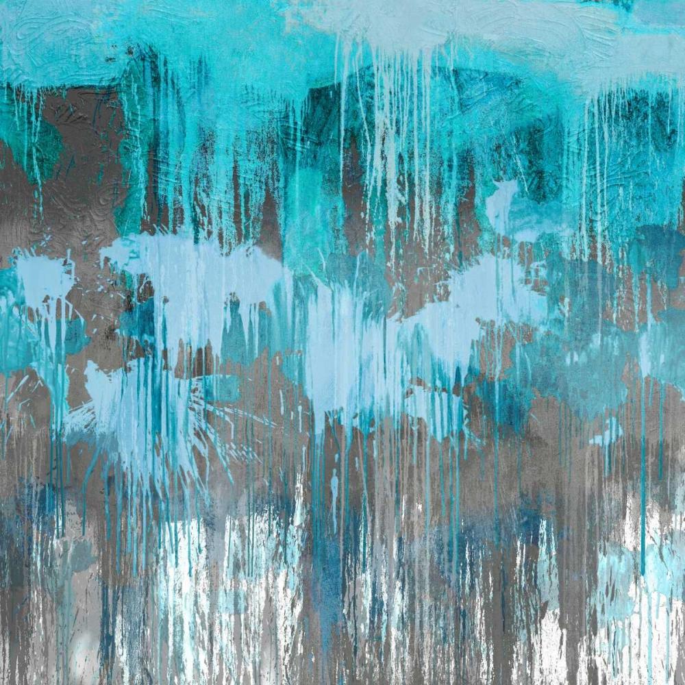 konfigurieren des Kunstdrucks in Wunschgröße Unleashed Aqua von Conley, Tom