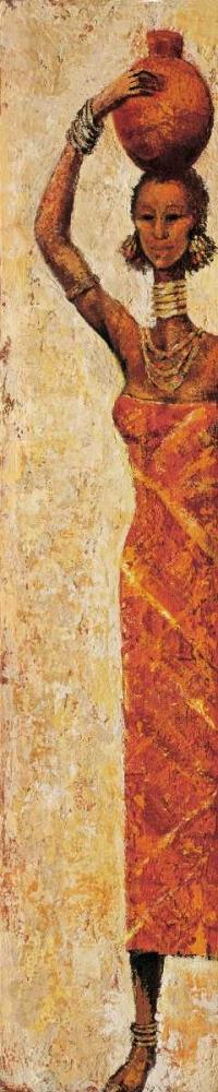 konfigurieren des Kunstdrucks in Wunschgröße African Woman I von Halley, Terence