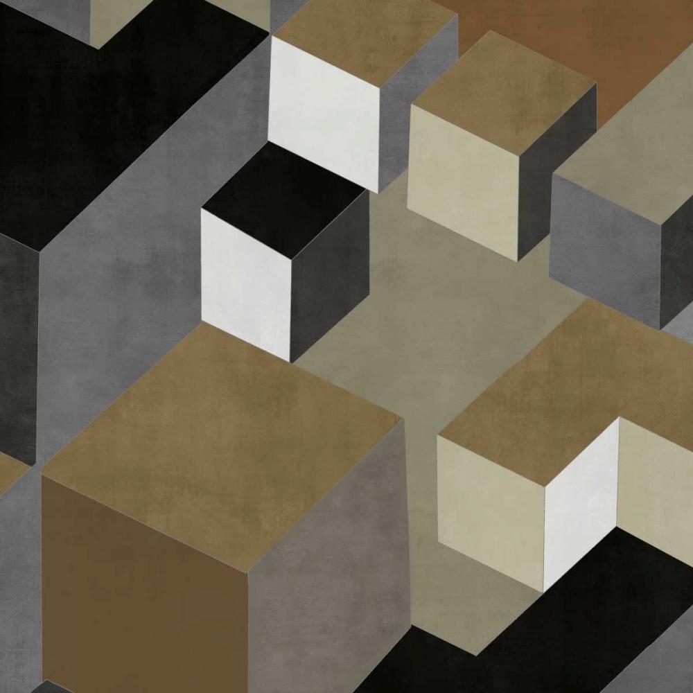 konfigurieren des Kunstdrucks in Wunschgröße Cubic in Neutral II von Simmions, Todd