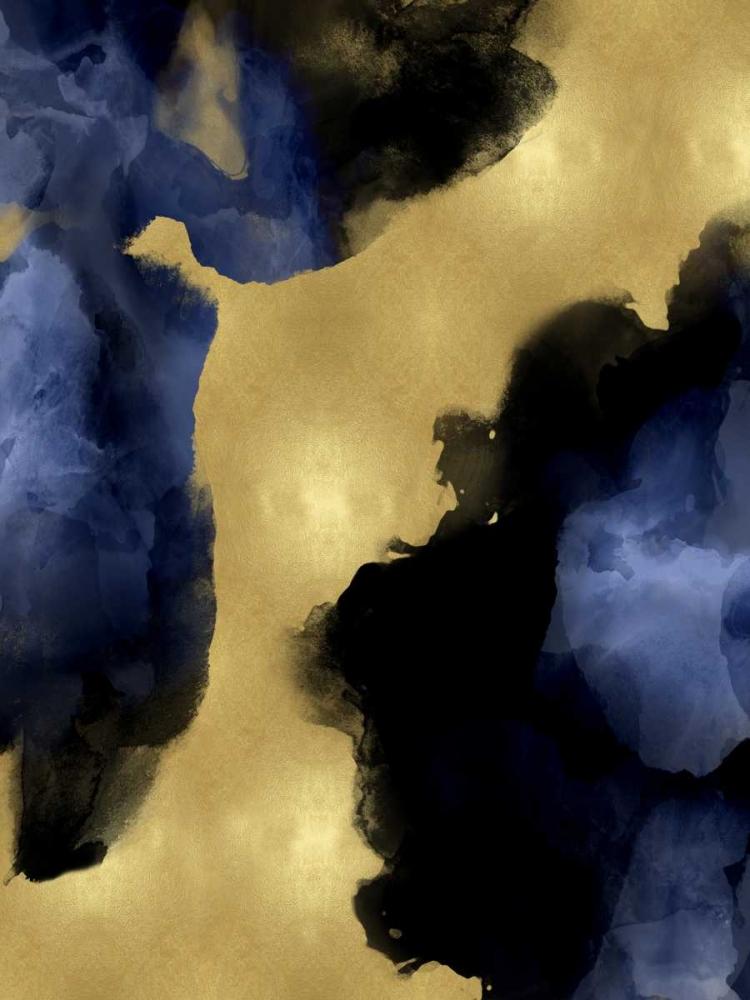 konfigurieren des Kunstdrucks in Wunschgröße Midnight Gold I von Mitchell, Lauren