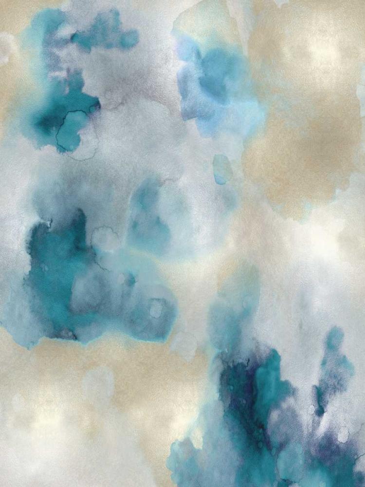 konfigurieren des Kunstdrucks in Wunschgröße Whisper in Aqua I von Mitchell, Lauren