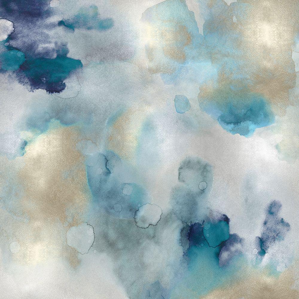 konfigurieren des Kunstdrucks in Wunschgröße Aqua Movement I von Mitchell, Lauren