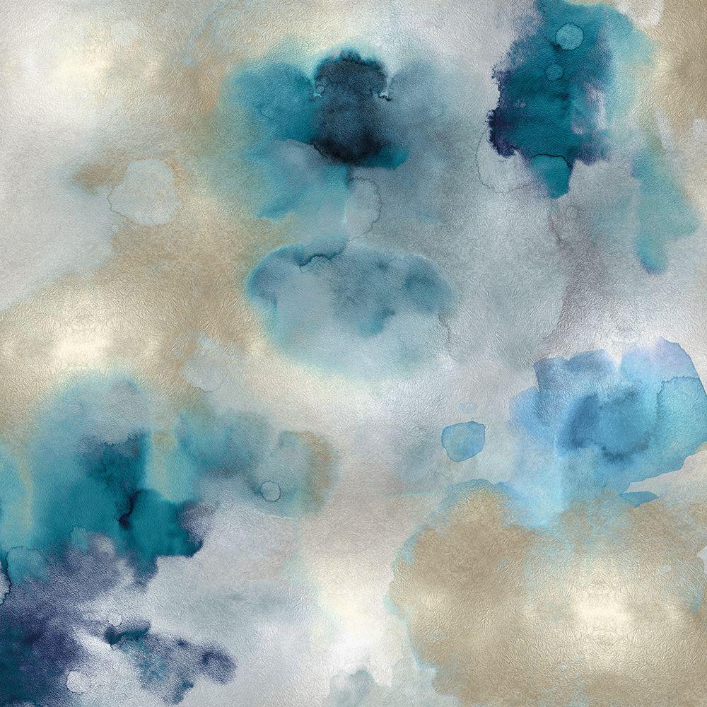 konfigurieren des Kunstdrucks in Wunschgröße Aqua Movement II von Mitchell, Lauren