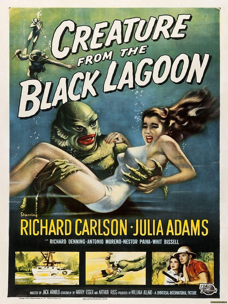 konfigurieren des Kunstdrucks in Wunschgröße Creature From The Black Lagoon von Anonymous