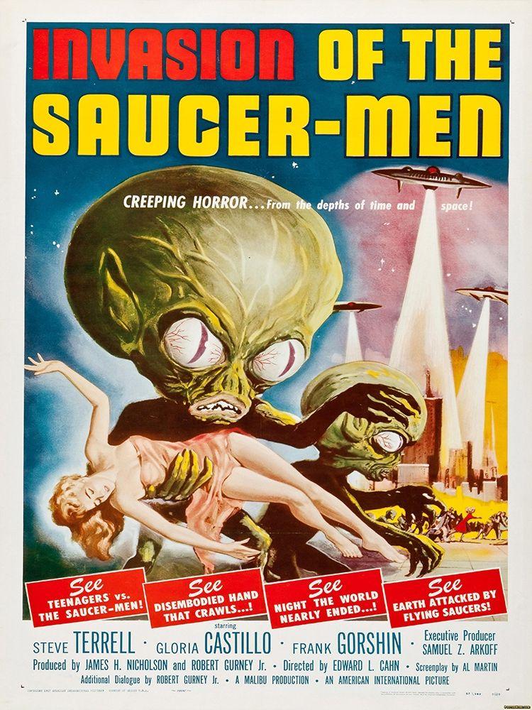 konfigurieren des Kunstdrucks in Wunschgröße Invasion Of The Saucer Men von Anonymous