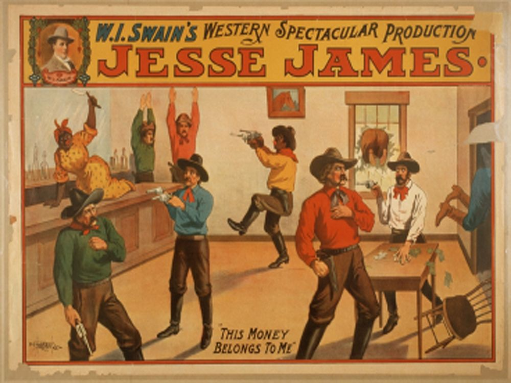 konfigurieren des Kunstdrucks in Wunschgröße Jesse James von Anonymous