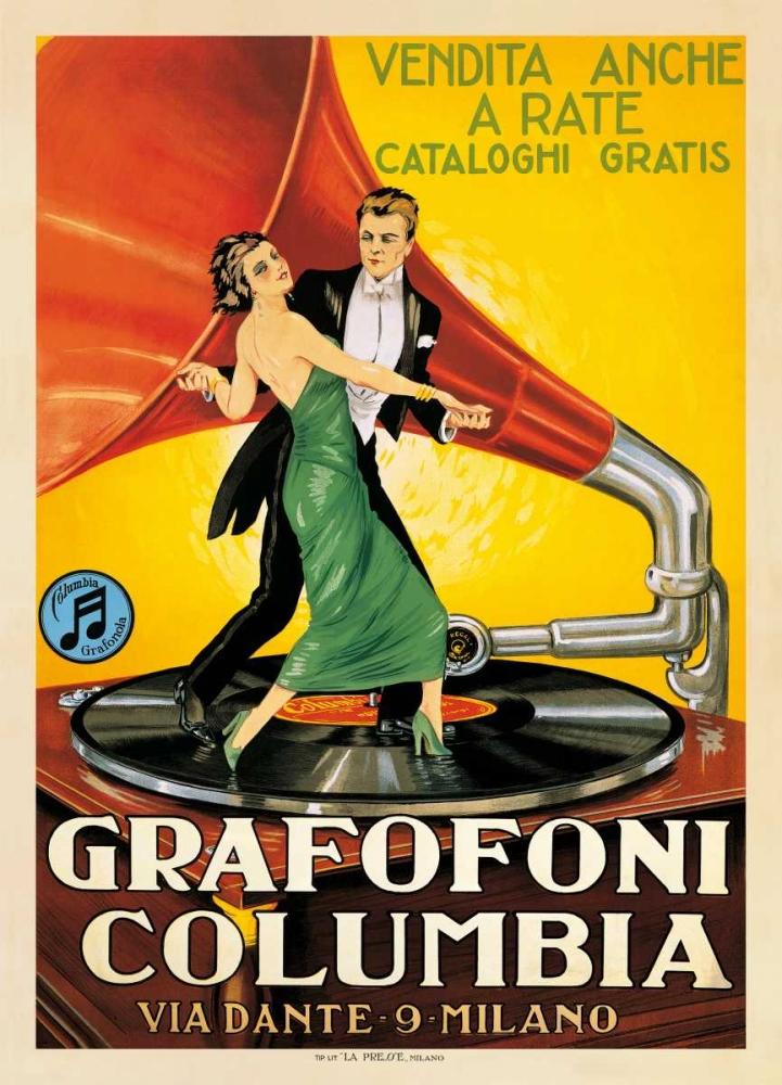 konfigurieren des Kunstdrucks in Wunschgröße Grafofoni Columbia-1920 ca von Anonymous