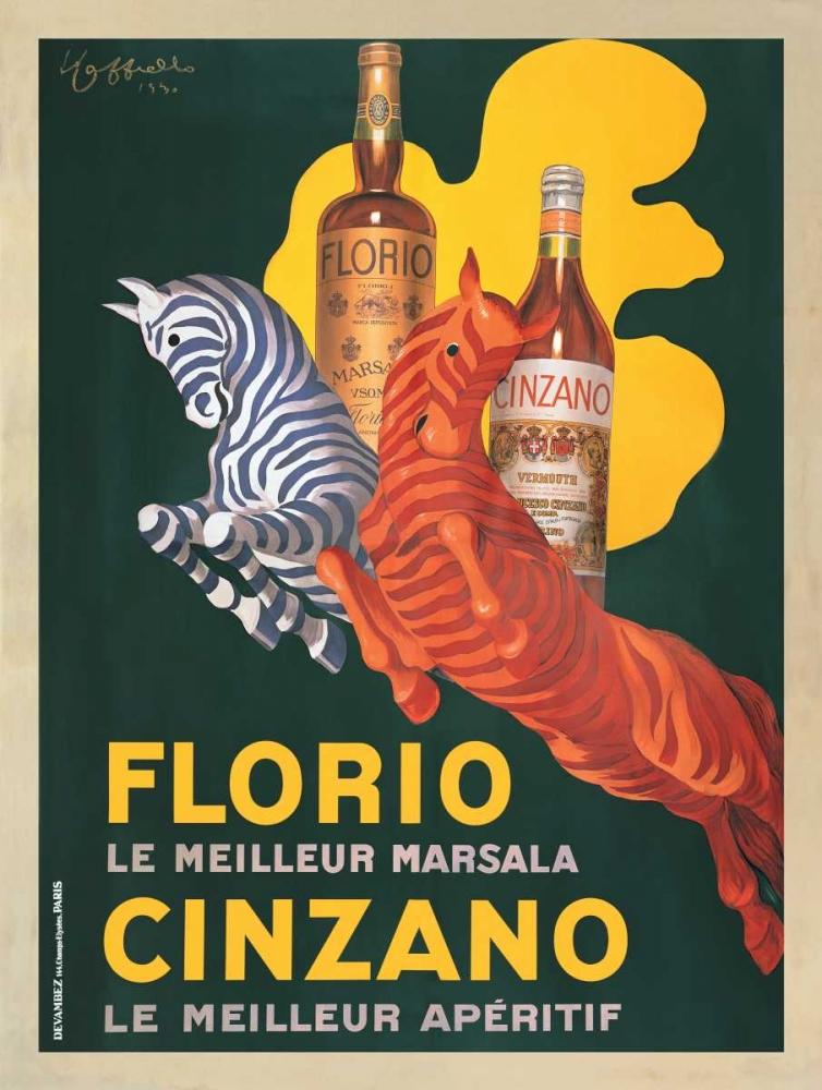 konfigurieren des Kunstdrucks in Wunschgröße Florio e Cinzano-1930 von Cappiello, Leonetto