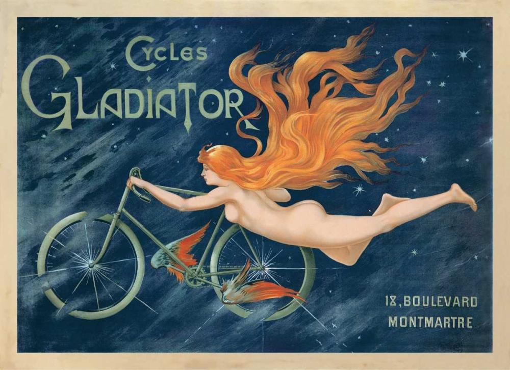 konfigurieren des Kunstdrucks in Wunschgröße Cycles Gladiator-1895 ca von Anonymous