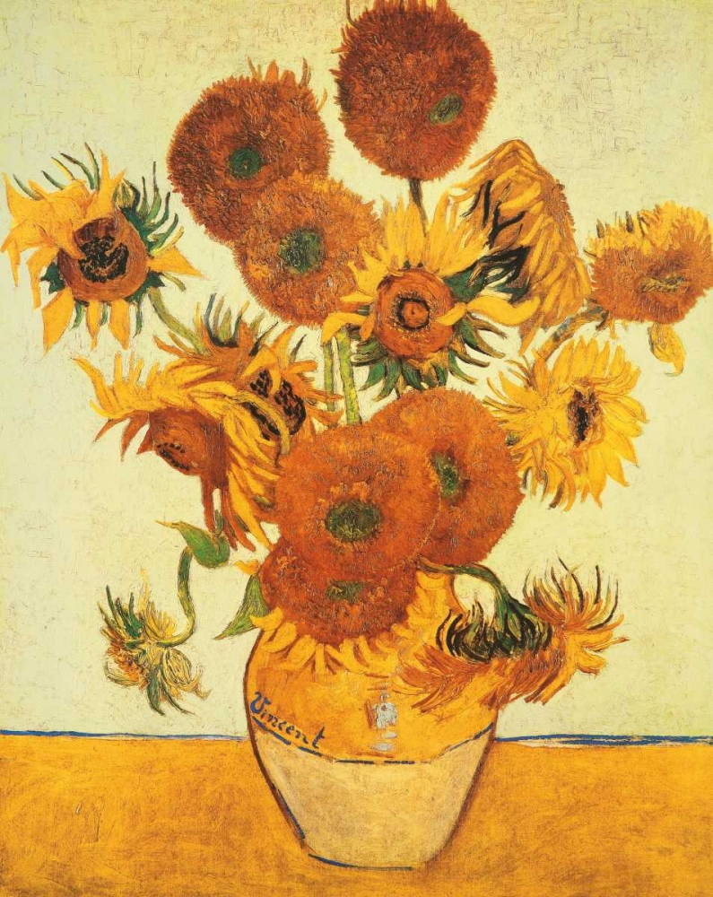 konfigurieren des Kunstdrucks in Wunschgröße I girasoli von Van Gogh, Vincent