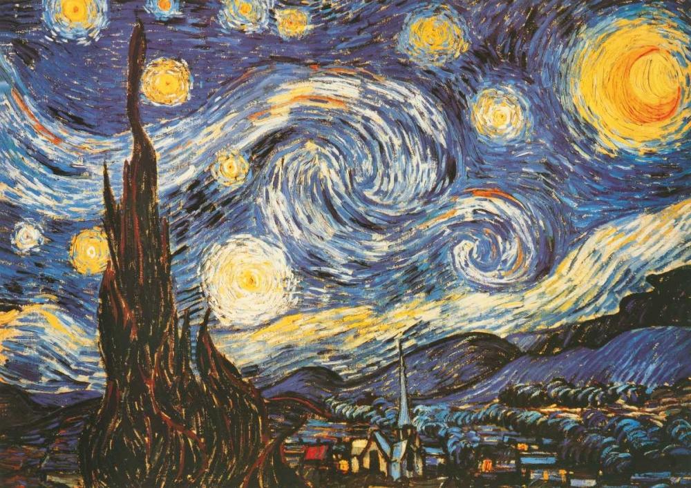 konfigurieren des Kunstdrucks in Wunschgröße La notte stellata von Van Gogh, Vincent