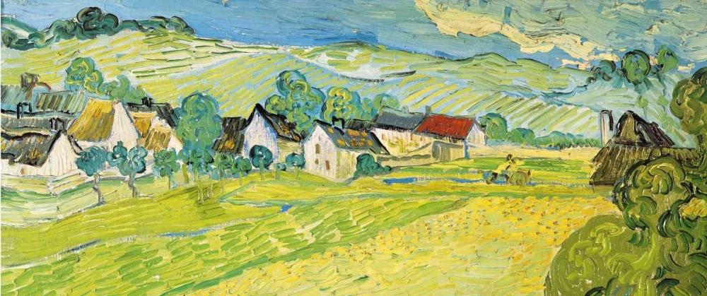 konfigurieren des Kunstdrucks in Wunschgröße Vue ensoleille pres d Auvers von Van Gogh, Vincent