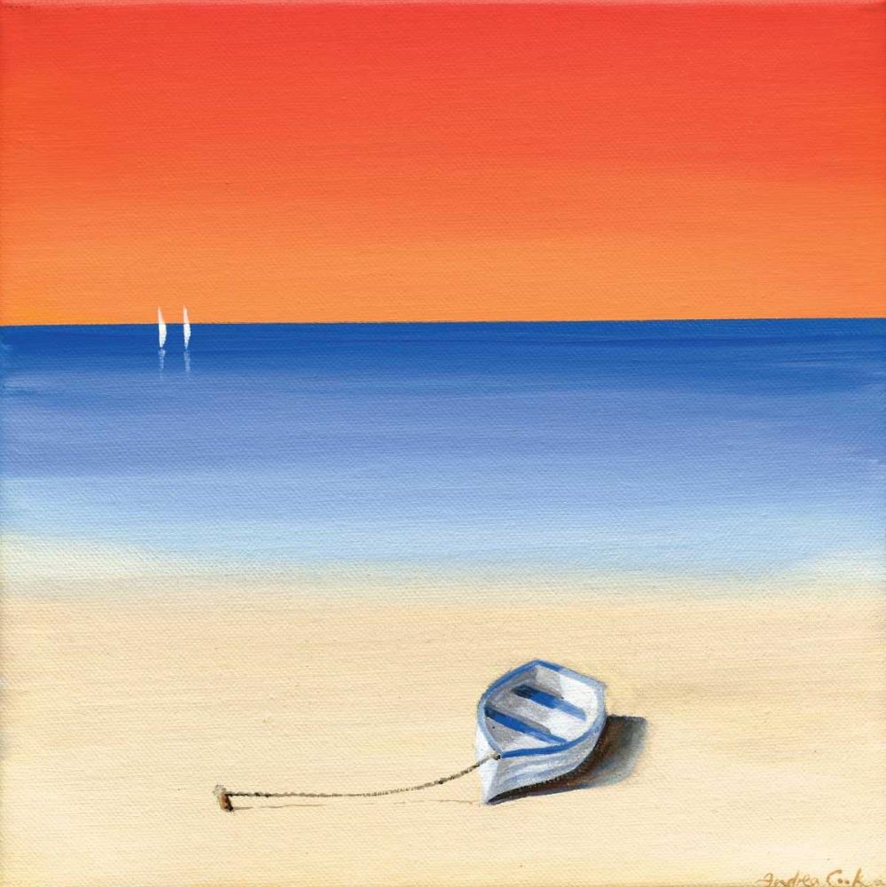 konfigurieren des Kunstdrucks in Wunschgröße Red sky beach I von Cook, Andrea
