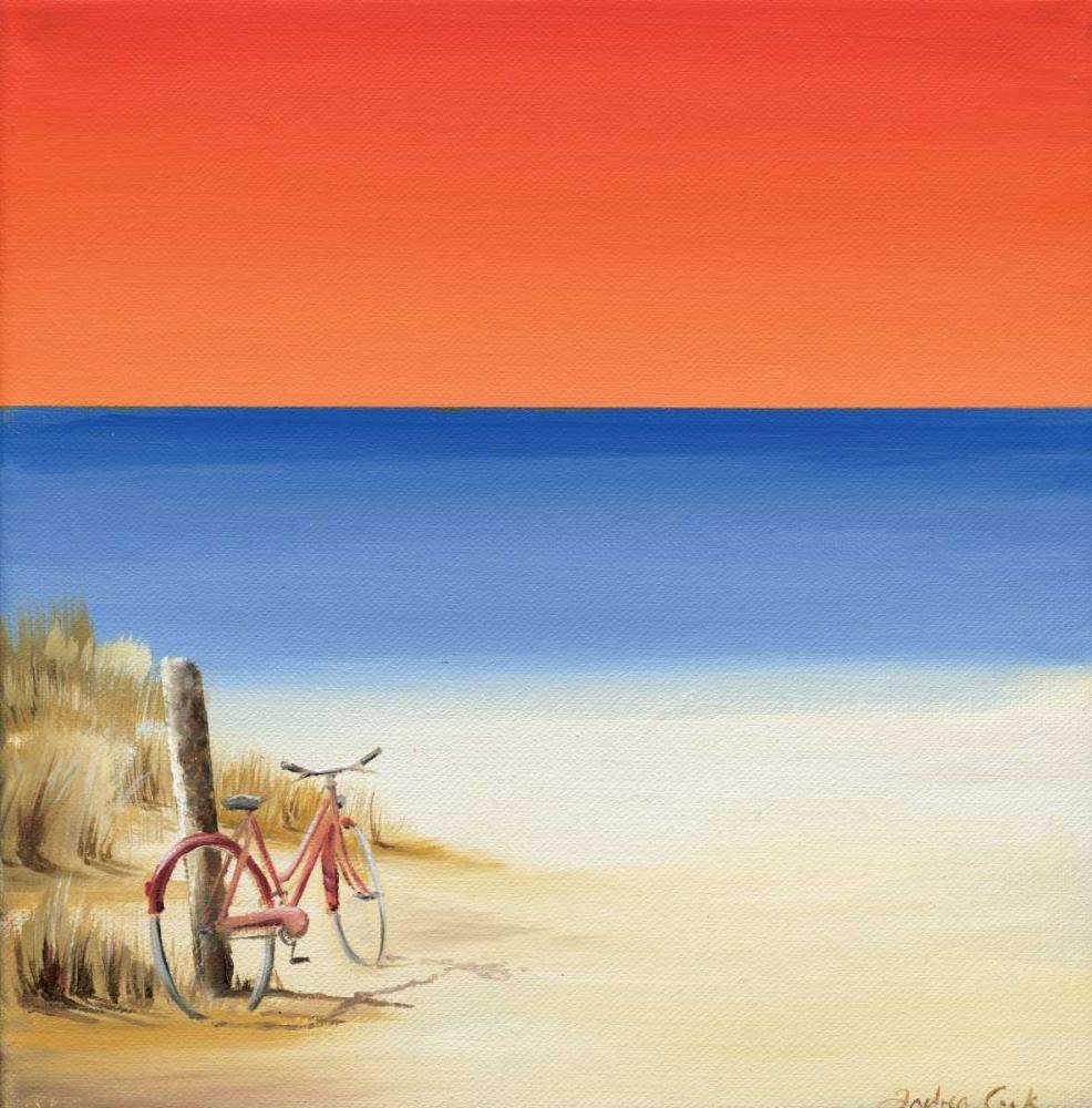 konfigurieren des Kunstdrucks in Wunschgröße Red sky beach II von Cook, Andrea