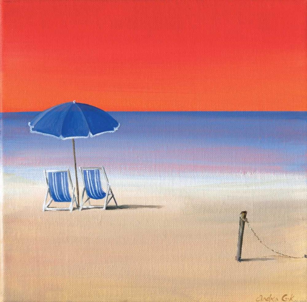 konfigurieren des Kunstdrucks in Wunschgröße Red sky beach III von Cook, Andrea