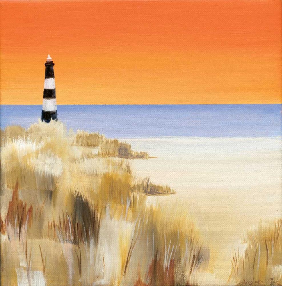 konfigurieren des Kunstdrucks in Wunschgröße Lighthouse Sunset von Cook, Andrea