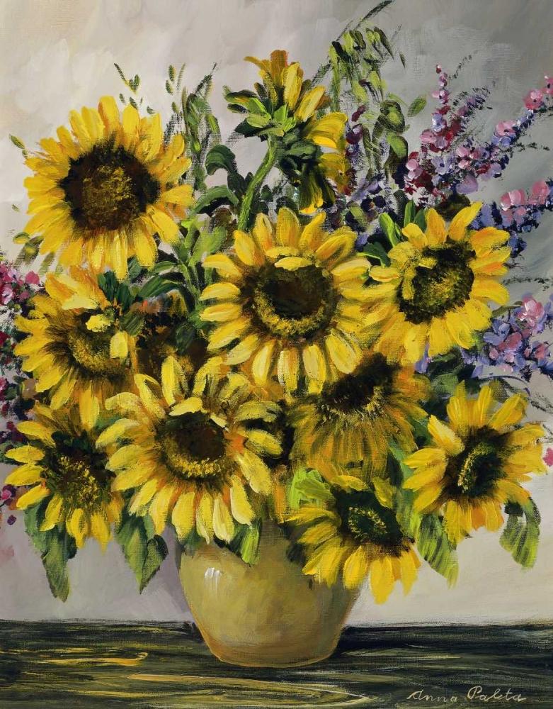 konfigurieren des Kunstdrucks in Wunschgröße Sunny sunflowers von Paleta, Anna