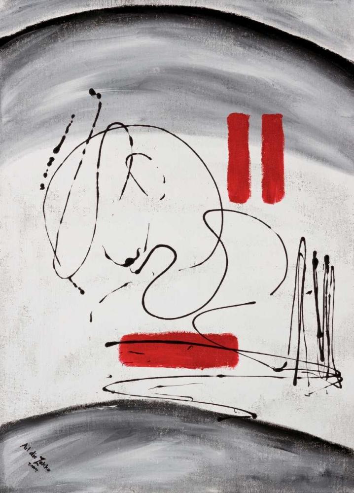 konfigurieren des Kunstdrucks in Wunschgröße Three red blocks von die Zakko, Art
