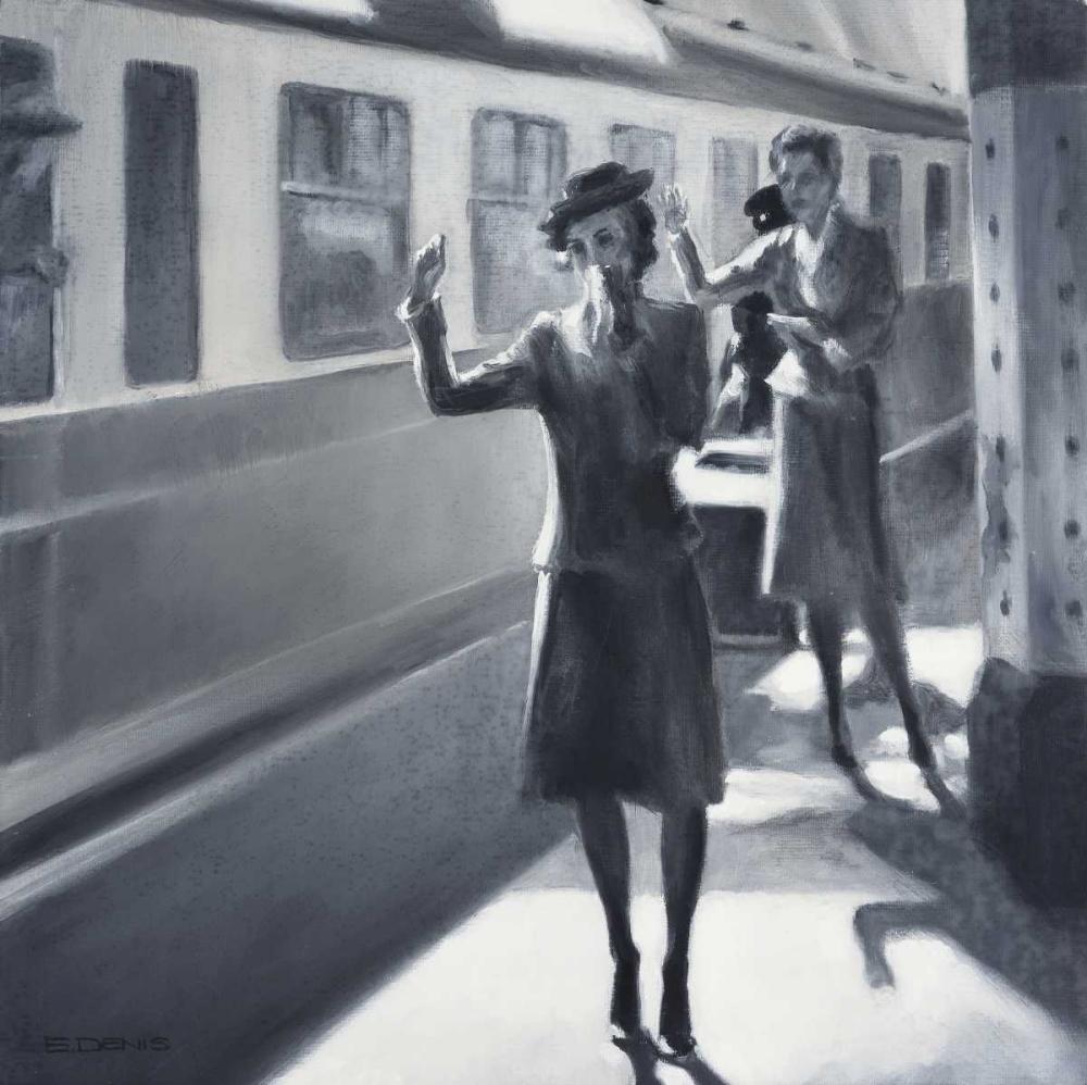 konfigurieren des Kunstdrucks in Wunschgröße trainstation von Denis, E