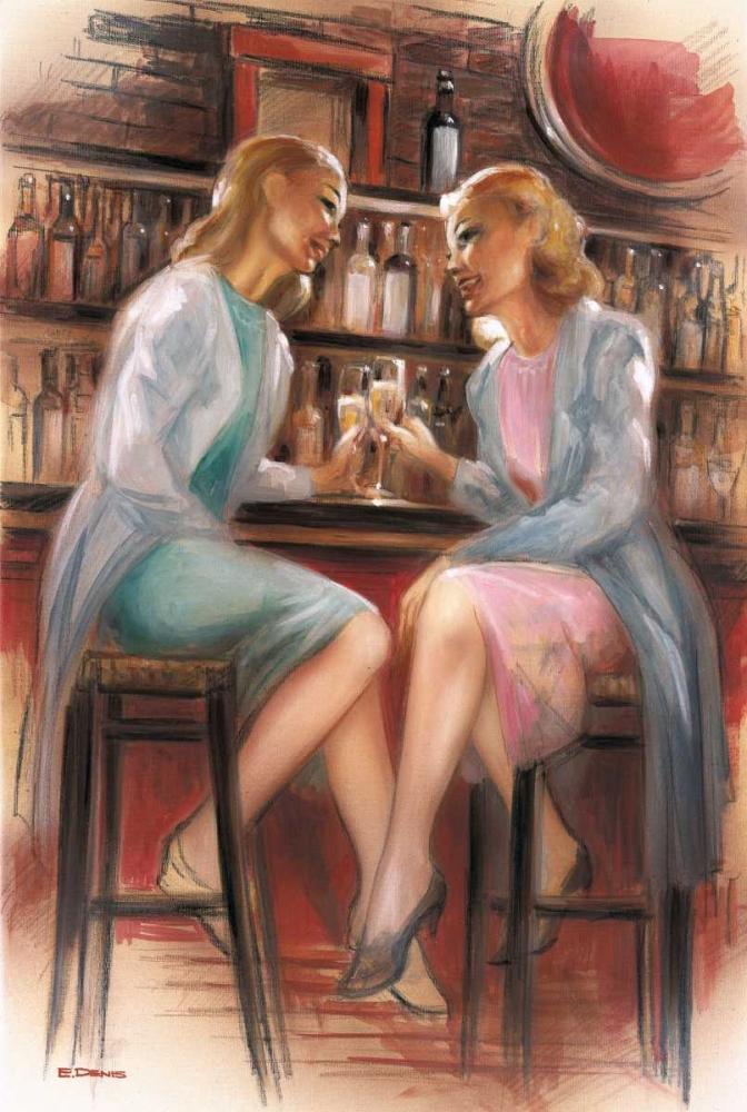 konfigurieren des Kunstdrucks in Wunschgröße Bar conversations II von Denis, E