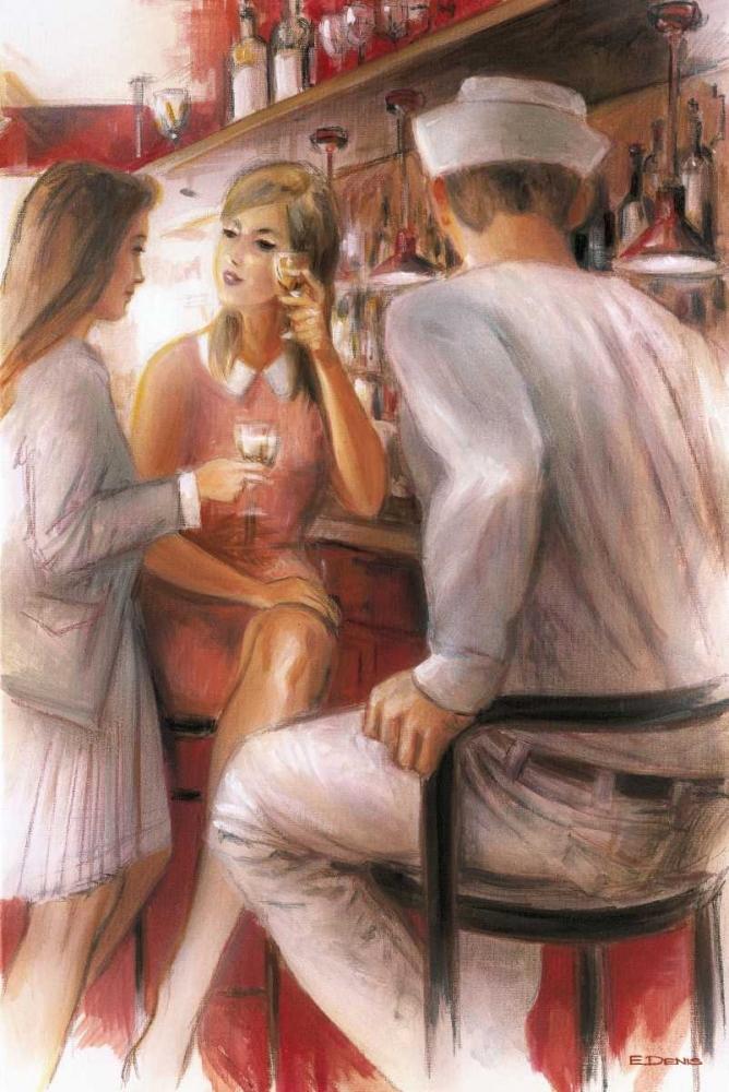 konfigurieren des Kunstdrucks in Wunschgröße Bar conversations IV von Denis, E