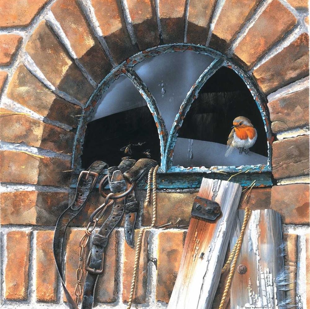konfigurieren des Kunstdrucks in Wunschgröße Bird in window von Weenink, Jan