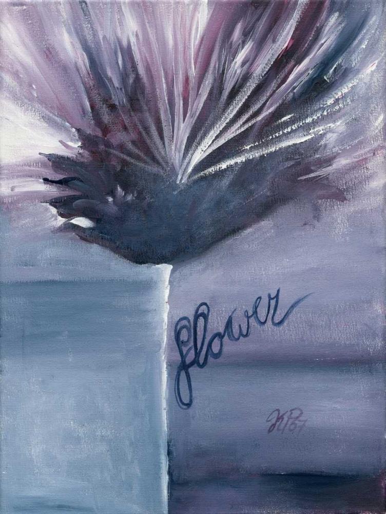 konfigurieren des Kunstdrucks in Wunschgröße Purple bleu II von Peters, Kristel