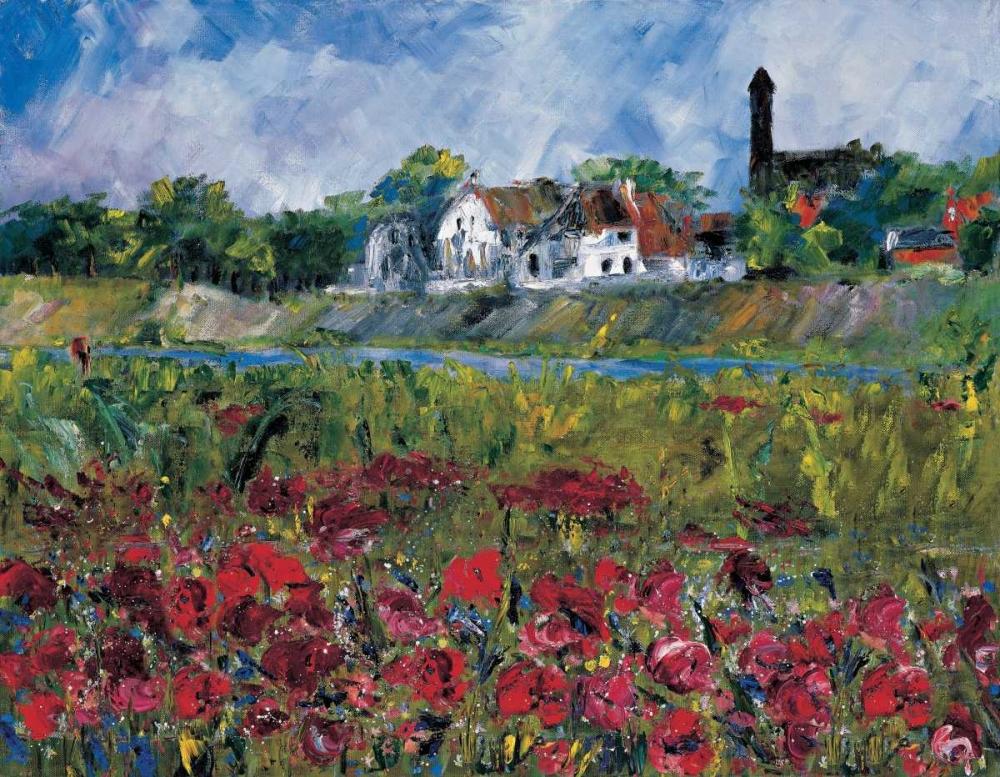 konfigurieren des Kunstdrucks in Wunschgröße My village at the river von Cruysberg, Marijke