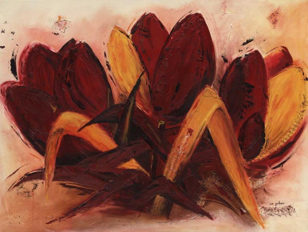 konfigurieren des Kunstdrucks in Wunschgröße Abstract Tulip I von Pelzer-Janssen, Ine